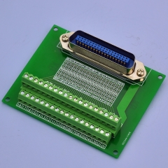 "CZH-LABS 36-Pin 0.085"" Centronics Vertical Male Ribbon Connector Screw Terminal Block Breakout Board."