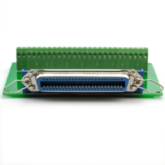 "CZH-LABS 50-Pin 0.085"" Centronics Female Ribbon Connector Screw Terminal Block Breakout Board."