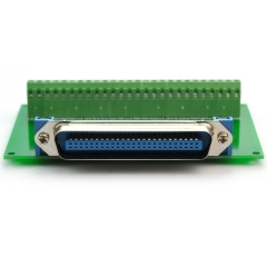 "CZH-LABS 50-Pin 0.085"" Centronics Male Ribbon Connector Screw Terminal Block Breakout Board."