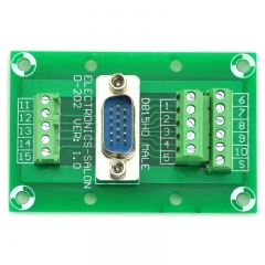 ELECTRONICS-SALON D-SUB DB15HD Male Header Breakout Board, DSUB.