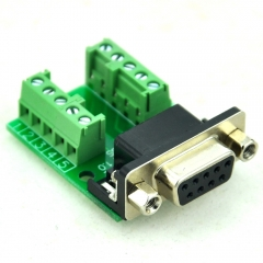 CZH-LABS Slim Right Angle DSUB DB9 Female Header Breakout Board Module, D-SUB.