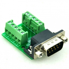 CZH-LABS Slim Right Angle D'SUB DB9 Male Header Breakout Board Module, D-SUB.