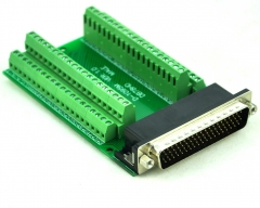 CZH-LABS Slim Right Angle D'SUB DB78HD Male Header Breakout Board Module, D-SUB.