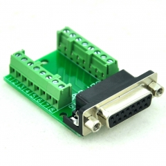 CZH-LABS Slim Right Angle DSUB DB15 Female Header Breakout Board Module, D-SUB.
