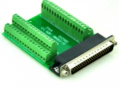 CZH-LABS Slim Right Angle D'SUB DB62HD Male Header Breakout Board Module, D-SUB.