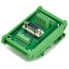 ELECTRONICS-SALON DIN Rail Mount D-SUB DB15HD Male Header Interface Module, DSUB Breakout Board.