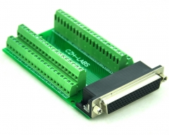 CZH-LABS Slim Right Angle D'SUB DB78HD Female Header Breakout Board Module, D-SUB.
