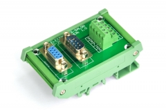 ELECTRONICS-SALON DIN Rail Mount D-SUB DB9 Male/Female Header Interface Module, DSUB Breakout Board.