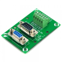 ELECTRONICS-SALON D-SUB DB9 Male/Female Header Breakout Board, DSUB.