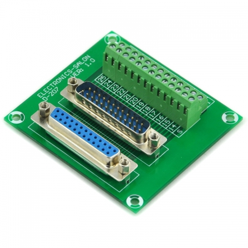 ELECTRONICS-SALON D-SUB DB25 Male/Female Header Breakout Board, DSUB.