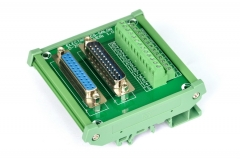 ELECTRONICS-SALON DIN Rail Mount D-SUB DB25 Male/Female Header Interface Module, DSUB Breakout Board.