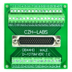 CZH-LABS D-SUB DB44HD Male Header Breakout Board, DSUB.