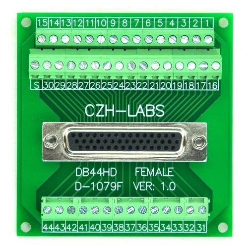 CZH-LABS D-SUB DB44HD Female Header Breakout Board, DSUB.