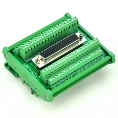 CZH-LABS DIN Rail Mount D-SUB DB78HD Female Header Interface Module, DSUB Breakout Board.
