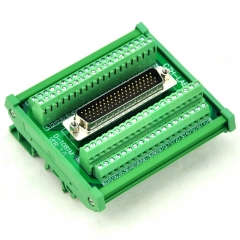 CZH-LABS DIN Rail Mount D-SUB DB78HD Male Header Interface Module, DSUB Breakout Board.