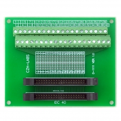CZH-LABS Dual IDC-40 Pitch 2.0mm Male Header Terminal Block Breakout Board.
