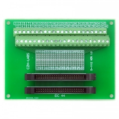 CZH-LABS Dual IDC-44 Pitch 2.0mm Male Header Terminal Block Breakout Board.