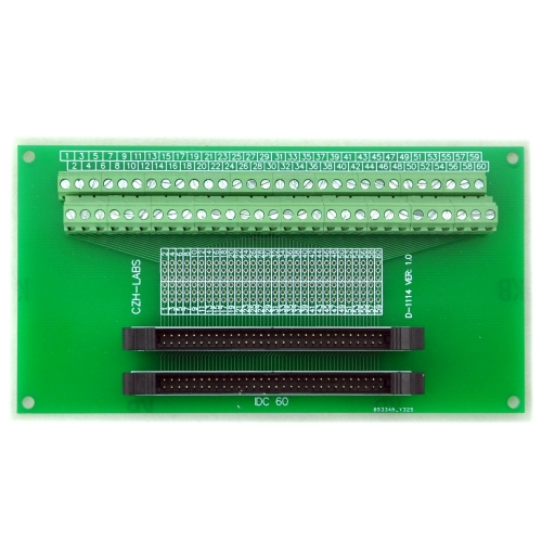 CZH-LABS Dual IDC-60 Pitch 2.0mm Male Header Terminal Block Breakout Board.