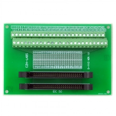CZH-LABS Dual IDC-50 Pitch 2.0mm Male Header Terminal Block Breakout Board.