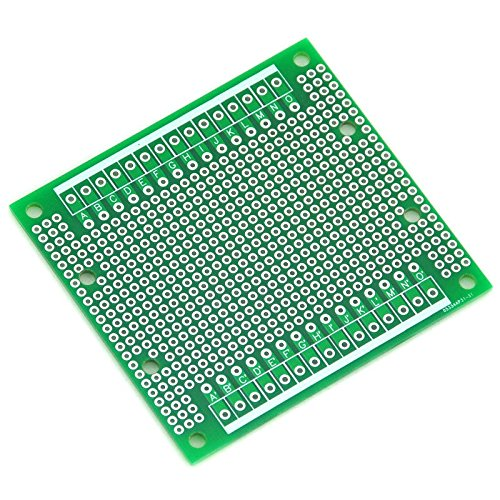 ELECTRONICS-SALON 1PCS Double-Side Prototype PCB,Universal Board, 77.4x72mm.