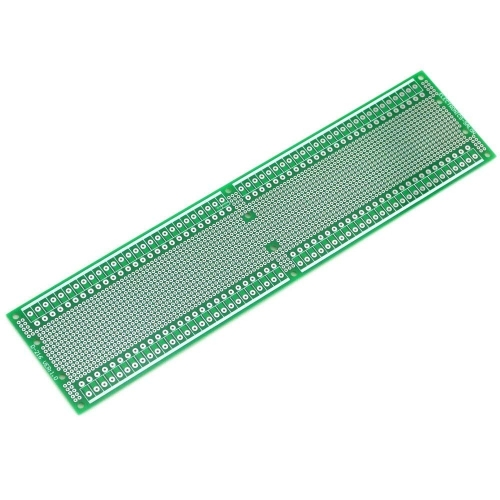 ELECTRONICS-SALON 1PCS Double-Side Prototype PCB,Universal Board, 296x72mm.
