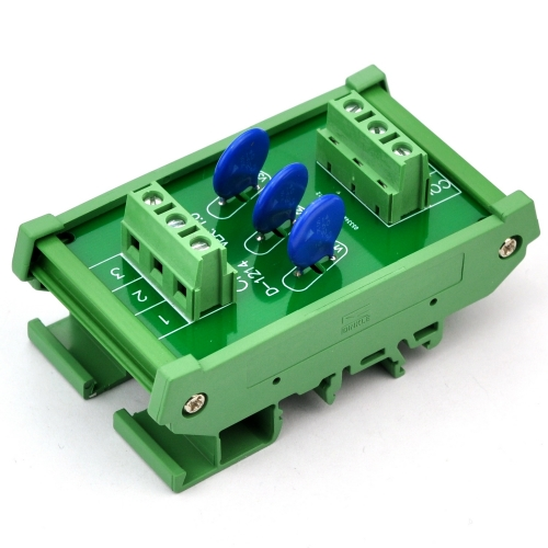 Chunzehui 3 Channels Common DIN Rail Mount 275V SIOV Metal Oxide Varistor Interface Module, Surge Suppressor Protection SPD Board.