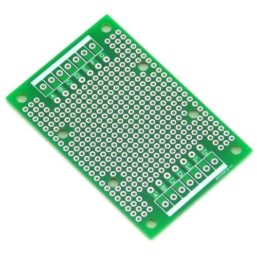 ELECTRONICS-SALON 1PCS Double-Side Prototype PCB,Universal Board, 47.4x72mm.