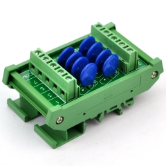 Chunzehui 8 Channels Common DIN Rail Mount 60V SIOV Metal Oxide Varistor Interface Module, Surge Suppressor Protection SPD Board.