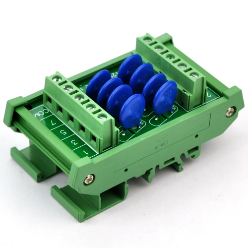 Chunzehui 8 Channels Common DIN Rail Mount 150V SIOV Metal Oxide Varistor Interface Module, Surge Suppressor Protection SPD Board.