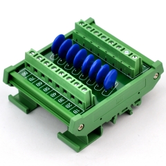 Chunzehui 8 Channels Individual DIN Rail Mount 30V SIOV Metal Oxide Varistor Interface Module, Surge Suppressor Protection SPD Board.