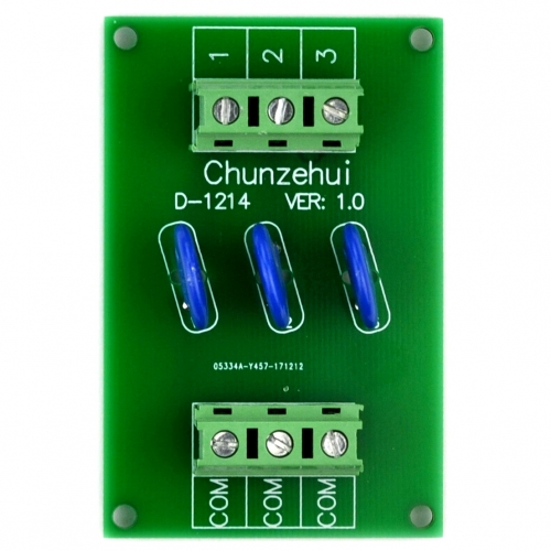 Chunzehui 3 Channels Common 275V SIOV Metal Oxide Varistor Interface Module, Surge Suppressor Protection SPD Board.