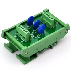 Chunzehui 3 Channels Individual DIN Rail Mount 60V SIOV Metal Oxide Varistor Interface Module, Surge Suppressor Protection SPD Board.