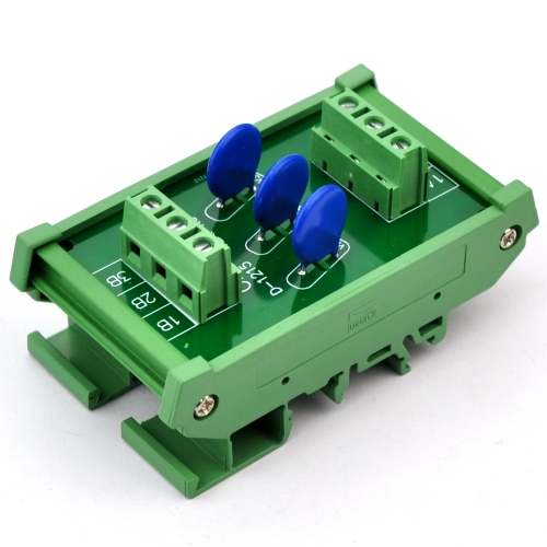Chunzehui 3 Channels Individual DIN Rail Mount 275V SIOV Metal Oxide Varistor Interface Module, Surge Suppressor Protection SPD Board.