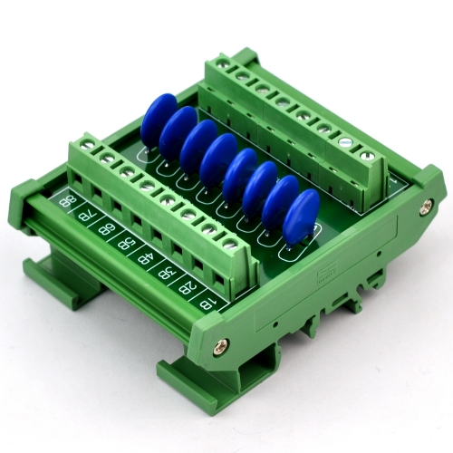 Chunzehui 8 Channels Individual DIN Rail Mount 60V SIOV Metal Oxide Varistor Interface Module, Surge Suppressor Protection SPD Board.