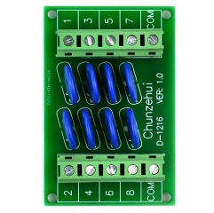 Chunzehui 8 Channels Common 60V SIOV Metal Oxide Varistor Interface Module, Surge Suppressor Protection SPD Board.