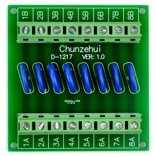 Chunzehui 8 Channels Individual 30V SIOV Metal Oxide Varistor Interface Module, Surge Suppressor Protection SPD Board.
