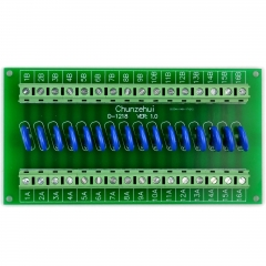Chunzehui 16 Channels Individual 150V SIOV Metal Oxide Varistor Interface Module, Surge Suppressor Protection SPD Board.