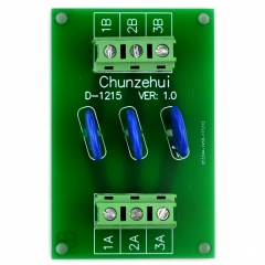 Chunzehui 3 Channels Individual 60V SIOV Metal Oxide Varistor Interface Module, Surge Suppressor Protection SPD Board.
