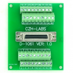 "CZH-LABS 36-pin Half-Pitch/0.05"" D-SUB Female Breakout Board, DSUB, SCSI, Terminal Module."