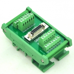 "CZH-LABS DIN Rail Mount 26-pin Half-Pitch/0.05"" D-SUB Female Interface Module, DSUB, SCSI."