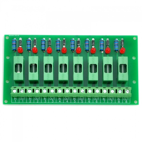 Electronics-Salon 100~250VAC 8 Channel Fuse Board, with Fuse Fail Indication.