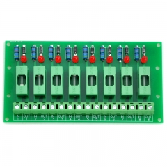Electronics-Salon 5~48VDC 8 Channel Fuse Board, with Fuse Fail Indication.