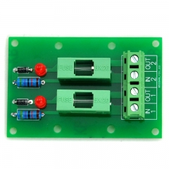 ELECTRONICS-SALON 5~48VDC 2 Channel Fuse Board, with Fuse Fail Indication.