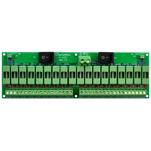 Chunzehui 18 Channels 12V/24V 20A Power Distribution Fuse Module, For CCTV Security Camera ect DIY.