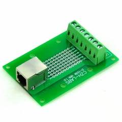 CZH-LABS RJ11/RJ12 6P6C Right Angle Jack Breakout Board, Terminal Block Connector.