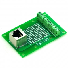CZH-LABS RJ50 10P10C Vertical Shielded Jack Breakout Board, Terminal Block Connector.