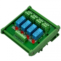 ELECTRONICS-SALON DIN Rail Mount 4 DPDT Signal Relay Interface Module, DC 24V Version.