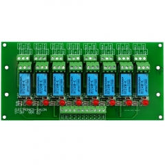 ELECTRONICS-SALON 8 Channel DPDT Signal Relay Module Board (Operating Voltage: DC 24V)
