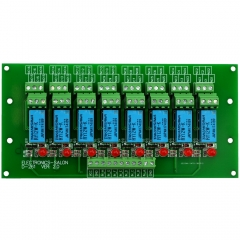 ELECTRONICS-SALON 8 Channel DPDT Signal Relay Module Board (Operating Voltage: DC 12V)