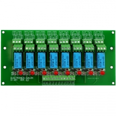 ELECTRONICS-SALON 8 Channel DPDT Signal Relay Module Board (Operating Voltage: DC 5V)